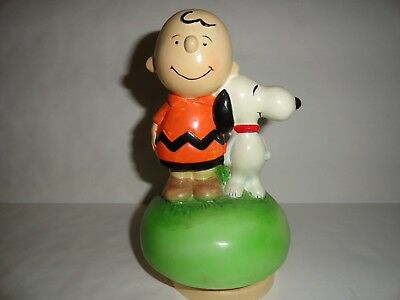 Vintage 1968 Charlie Brown and Snoopy Music Box