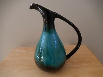 "Blue Mountain Pottery 10.5"" high wide handle vase"
