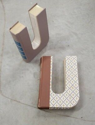 Pair of Vintage Readers Digest Upcycled Book Letters Hand Cut Repurposed Letter