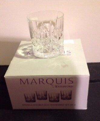 4 Waterford Sparkle Double Old Fashioned Glasses Tumblers New In Box
