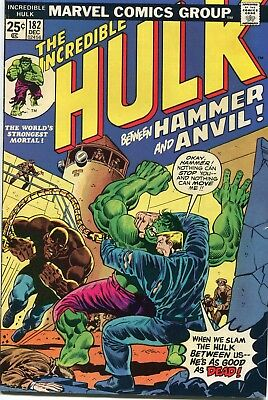 The Incredible Hulk #182 - Bronze Dec 1974 - 2nd Appearance of Wolverine X-Men