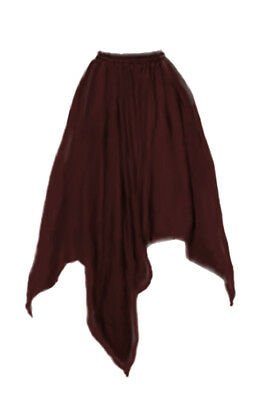 I-D-D Renaissance Peasant Wench Pirate Faire Women 4 Point Over Skirt Burgundy