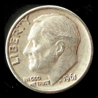 1961-D Roosevelt 90% Silver Dime Ships Free. Buy 3 get xtra AG. NR