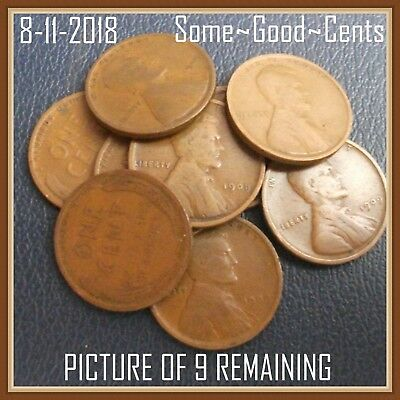 """1909 P Lincoln Wheat Cent, One (1) First Year Coin """"G-F Grades"""""""