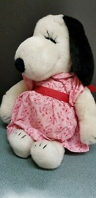 Vinage 1968 United Features SNOOPY'S SISTER BELLE Plush In Original Dress