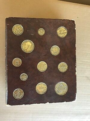Vintage Book Bank Inlaid Foreign Coins