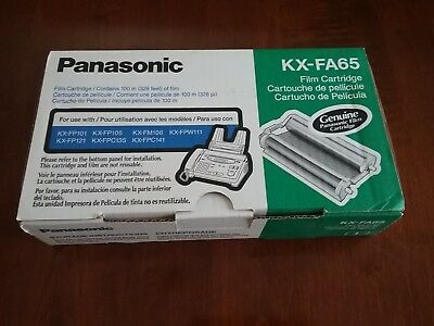 Genuine Panasonic KX-FA65 Fax Film Ribbon Cartridge Brand New In Box NIB Sealed