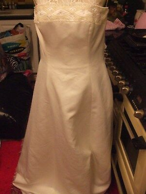 alfred angelo wedding dress shawl and little bag size 36in bust beautiful