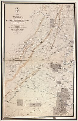 12x18 inch Reprint of American Military Map Gettysburg Battlefield