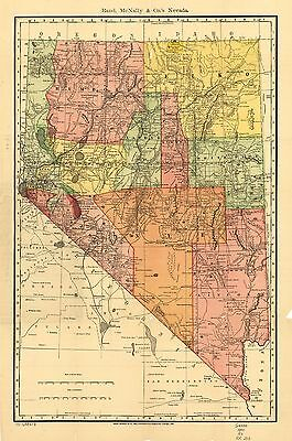 12x18 inch Reprint of American Railroad Map Nevada