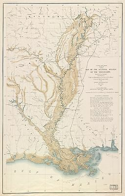 12x18 inch Reprint of Lakes And Rivers Map Mississippi River