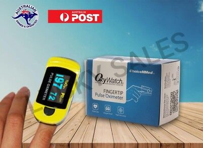 Fingertip Pulse Oximeter Blood Oxygen Saturation Monitor Oxywatch By ChoiceMMed