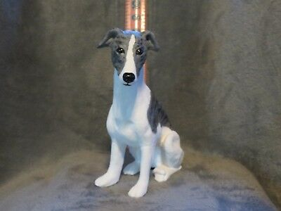 Whippet Plaster Dog Statue Hand Cast And Painted By T.c. Schoch
