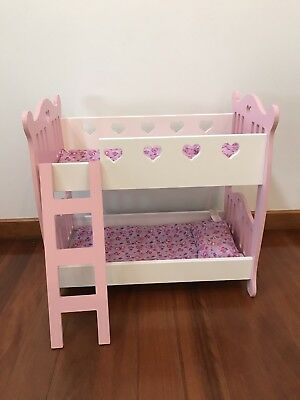 Baby Doll Bunk Bed Pink And White