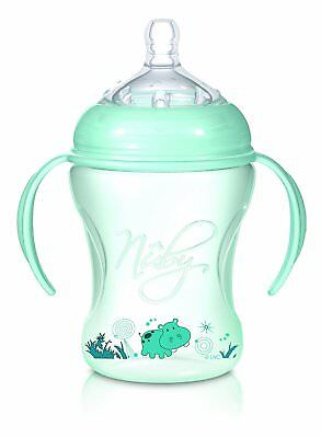 Nuby Baby Trainer Cup Natural Touch SoftFlex Nurser cup Green Hippo Design 240ml
