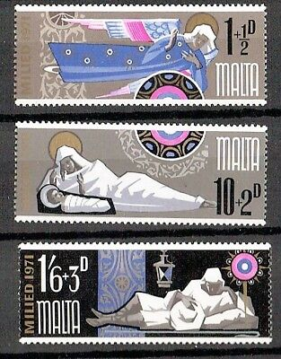 Malta 1971 Christmas Mint Set Of Four Sg 460-462