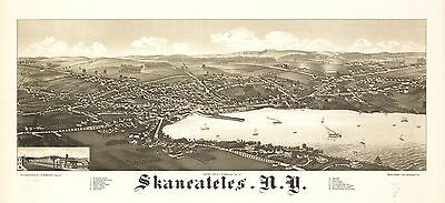 12x18 inch Reprint of American Cities Towns States Map Skaneateles New York
