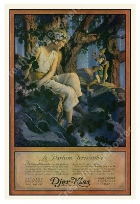 1918 Maxfield Parrish young woman Djer Kiss ad big archival fine art print 24x35
