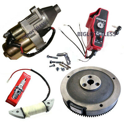 Electric Start Kit Starter Motor Flywheel Switch Honda Gx240 8Hp Gx270 9Hp New
