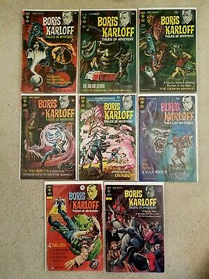 BORIS KARLOFF Tales of Mystery Gold Key Comics  Lot of 8 Early Issues 1967-72