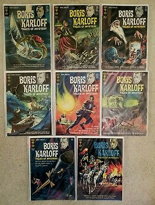 BORIS KARLOFF Tales of Mystery Gold Key Comics  Lot of 8 Early Issues 1963-65