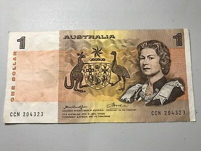 Australia old One Dollar world foreign paper money great condition