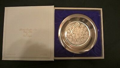 1975 FRANKLIN MINT EASTER PLATE THE LAST SUPPER - Solid Sterling Silver