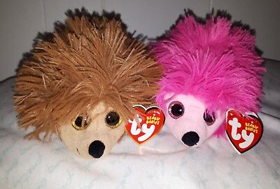 TY Beanie Baby Hedgehogs Lilly & Herbert like new with tags