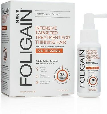 FOLIGAIN Intensive Targeted Treatment For Thinning Hair For Men With 10% (2oz)
