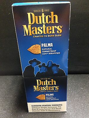 Dutch Masters Palma Cigarillos  3 Per Pack. Box Of 30 Cigarillos