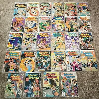 Lot of 57 Vintage Wonder Woman Comic Book Bronze collection Check Description