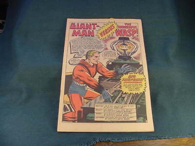 Dec 1964 No 62 Tales to Astonish Coverless Marvel Comic Giant Man Wasp Hulk