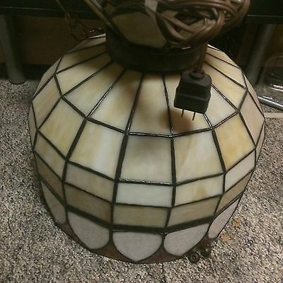 """Robert Somers Hanging Stained Glass Lamp, 14"""""""