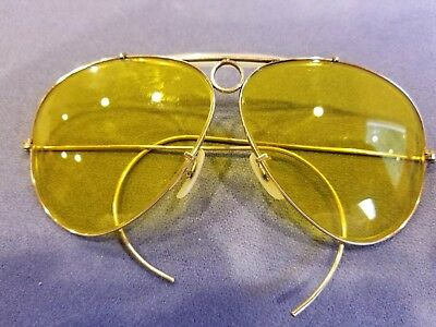 RAY BAN B&L vintage 12k GF. gold yellow shooter Kalichrome aviator sunglasses