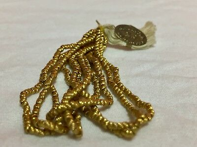 Rare Antique French Metal Beads Brass New Old Dead Stock