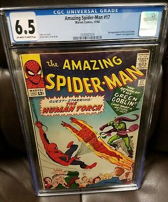 AMAZING SPIDER-MAN #17, CGC 6.5 (Oct 1964, Marvel) GREEN GOBLIN 2ND APPEARANCE