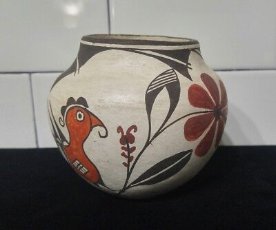 Very Rare Vtg Authentic Early Delores S. Sanchez Acoma Seed Pueblo Pottery