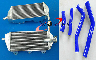 For YAMAHA YZF450 YZ450F 2010-2013 2011 2012 2013 ALUMINUM RADIATOR + Blue HOSE