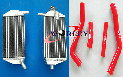 ALUMINUM RADIATOR & RED HOSE for YAMAHA YZF450 YZ450F 2010-2013 2011 2012