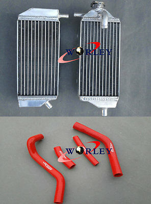Aluminum Radiator & Red Hose for YAMAHA YZ450F YZF450 YZ 450 F 2014 2015 2016