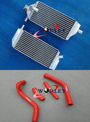ALUMINUM RADIATOR + RED HOSE for YAMAHA YZ250F YZF250 YZF 250 2014 2015 2016