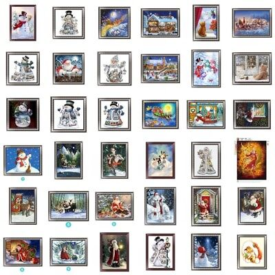 Cute DIY Christmas Santa 5D Diamond Painting Embroidery Cross Stitch Home Decor