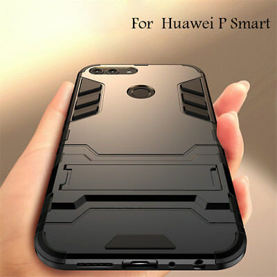 For Huawei P Smart 360° Shockproof Hybrid Kickstand Rubber Cover Armor Case