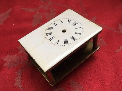 French Carriage Clock Movement For Spares Or Repair Runs For A Bit