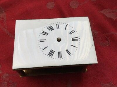 French Carriage Clock Movement Running For Spares Or Repair