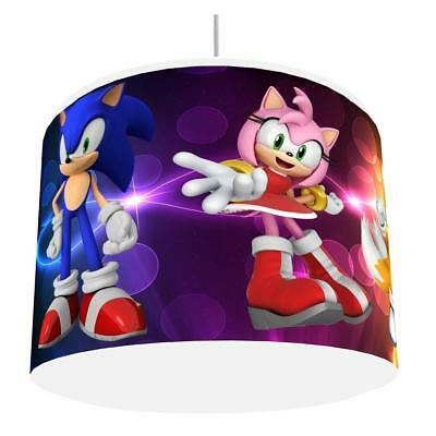 SONIC THE HEDGEHOG LIGHT SHADE KIDS ROOM matches duvet set  NEW