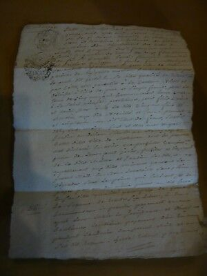 Antique French legal manuscript dated during the French Revolution 1791