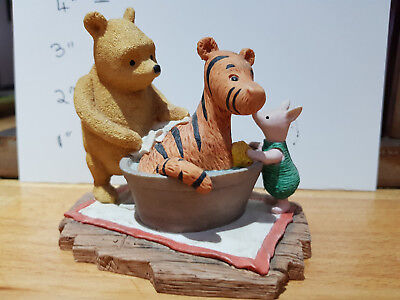winnie the pooh figures-classic pooh withtigger in bathtub and piglet helping