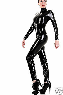 Latex GOMMA Tuta Catsuit Tuta Intera! Colore Nero, Colore Black