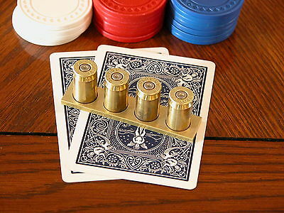 45 Cal. 1911 Automatic Poker Card Protector/ Poker Hand Guard +Matching Keychain